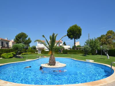 Photo for Villa Tres Calas 4:Private garden-3 bedrooms-Linen & Satellite-Residence with sw.pool near creeks