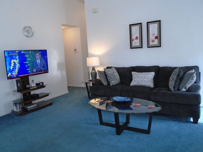 """Relax on one of the large 3 seater settees. Enjoy 50"""" Flat screen Smart TV"""