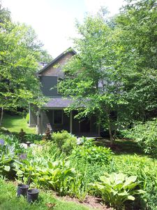 Summer in Vermont is verdant and lush, this is the garden in front of the house.