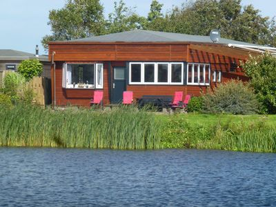 Photo for 8 pers. Large Rudolf home in front of the Lauwersmeer with sailor bar