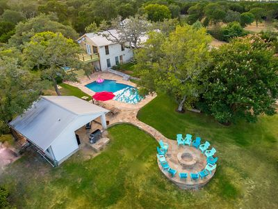 Photo for Dripping Springs Retreat Sleeps 20+, Hot Tub, Fire Pit, Tennis Court and Privacy