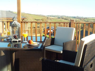 Photo for Luxury 2 4 or 6 Person Pet Friendly Lodge cw Hot Tub 5* Devon Hills Country Park