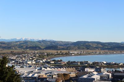 View NW overlooking HB, West Quay and Ahuriri from front gazebo/garden