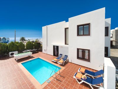 Photo for Villa Julianne 1: Heated Private Pool, Walk to Beach, A/C, WiFi, Car Not Required