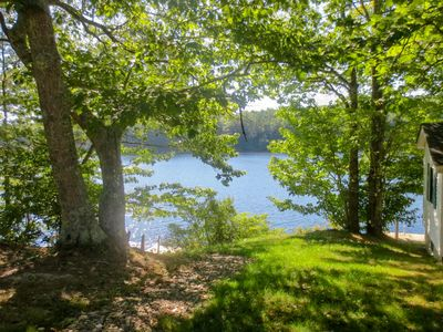Photo for Charming waterfront getaway w/ a furnished deck, private dock, & canoe