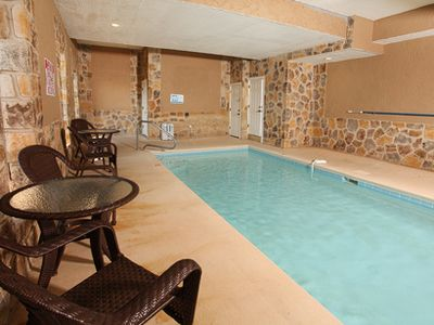 Photo for Perfectly Gorgeous 6 bedroom cabin with in cabin pool and amenities galore!