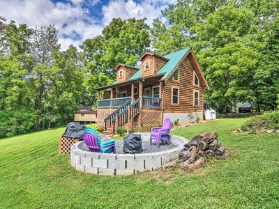 Photo for NEW! Maggie Valley Cabin w/ Game Room & Fire Pit!