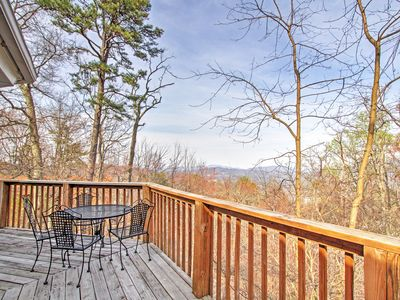 You'll love the views from the spacious deck.
