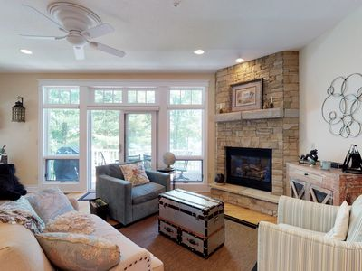 Photo for Luxurious lakefront condo w/ hot tub & dock - near dining & cinema
