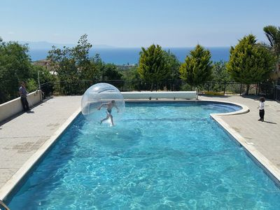 Photo for Villa With Private Heated Pool And Sea Views