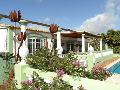 Photo for A stylishly furnished villa and chalet with swimming pool, ideal for large groups