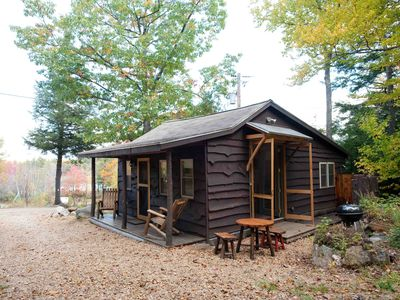 Photo for Bower Cabin- Cabin in woods on a remote pond, Romantic getaway, Green living!