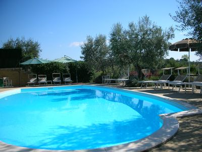 Photo for Peaceful farmhouse close to Tuscany 's best treasures 1 mile from shops only