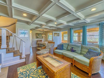 Photo for NEW LISTING! Beautiful dog-friendly home w/ private deck, outdoor shower & more!