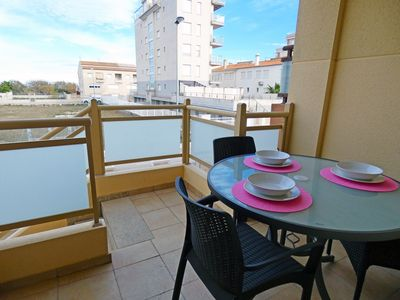 Photo for Beautiful and cheerful apartment in Oliva, on the Costa Blanca, Spain  with communal pool for 6 persons