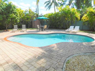 Photo for Tropical Cabana 2/2 for 6 Private Tropical Heated Pool Hollywood Near Beach