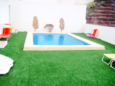 Private Pool (6mx3.5m) with plenty of sun loungers