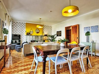 Photo for Premium sunny apartment with 2 outside terraces in the center of Lisbon