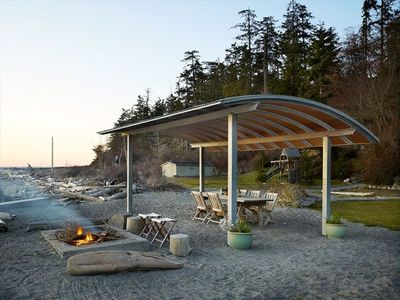 Photo for Luxury Beachfront on Whidbey's Westside - Sand and Sunsets!