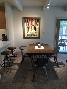 Dining table and bar