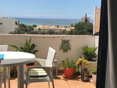 Photo for 2 BEDROOMED APPARTMENT WITH SEA VIEWS, 2 BATHROOMS, 2 BALCONY., UK TV AND WIFI