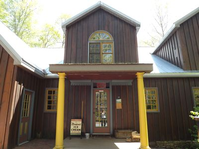 The front entrance to Brewhouse Mountain Eco-Inn