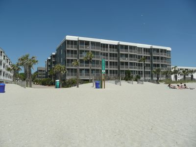 Our condo is 1st floor on the left side of building.  Oceanside view.