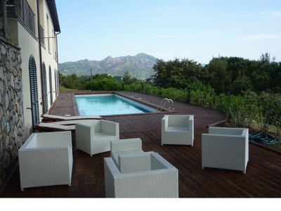 Photo for Beautiful Villa with pool and sea view, proposed price for 12 adults + 6 children under 2 years; The