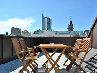 Photo for Comfortable apartments with roof terrace in the center of Leipzig!