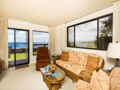 Photo for Step to Oceans Edge! Ground Floor Lanai, Kitchen, WiFi, Washer/Dryer–Poipu Shores 107A