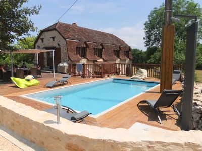 Photo for Quercy cottage with heated pool