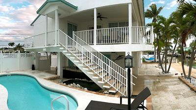 Photo for Beautiful Waterfront Keys Home w/ Private Heated Pool