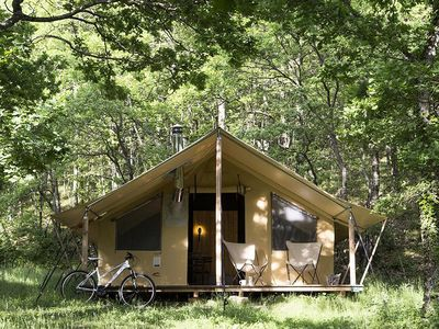 Photo for Camping Huttopia Les Châteaux *** - Trapper Tent 3 Rooms 5 People