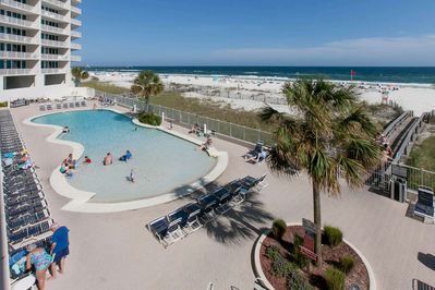 Zero entry pool, private boardwalk over to beach and Gulf