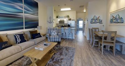 Photo for NEW LISTING! Stylish Townhome Within Easy Walk to Beach w/ Patio & Pool Access