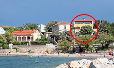Photo for Two bedroom apartment with balcony and sea view Vinjerac, Zadar (A-5824-a)