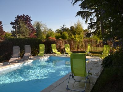 Photo for group accommodation with a pool and spa in Blois