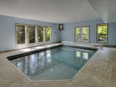 Photo for 5 BR Indoor Swimming Pool Cabin with Arcade Game & Theater Room near Park