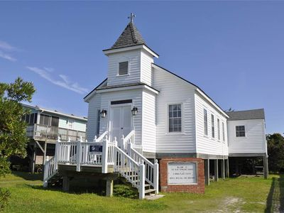 Photo for Olde Ocracoke Church: Light and airy featuring beautiful artist décor.