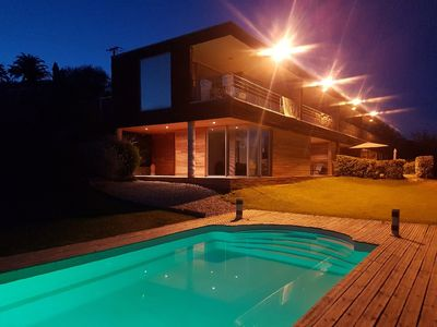Photo for 2-room rental in a mod cons design residence with warmed pool