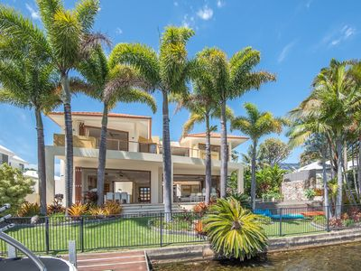 Photo for NEW: Vast Luxury Paul Clout Noosa waterfront family home, with 20m pool
