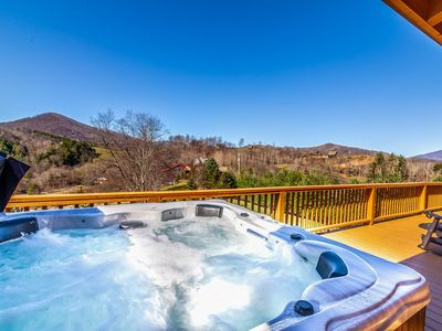 Photo for 4BR Lodge in Boone, Mountain Views, Hot Tub, Pet Friendly, Game Tables, Nearby Skiing
