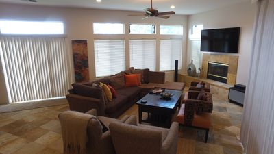 Photo for Beautiful home in Indian Palms CC  overlooking the 8th hole, and mountains