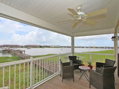 Photo for Premier Riverfront Townhome! Open Water Views, Community Pool, & Dock!