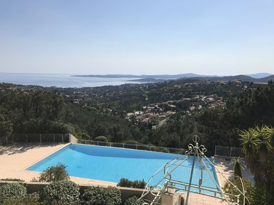 Photo for Gulf of Saint-Tropez - T2 + cabin, terrace, swimming pool, tennis - Promo Sails