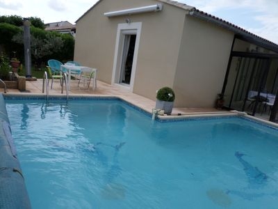Photo for VILLA WITH PRIVATE POOL ACCESS DISABLED PEOPLE PETS ALLOWED