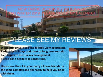 Photo for Stunning Corner Apartment With Sea Views. Fantastic Swimming Pool And Gardens