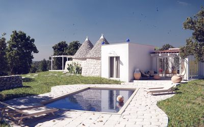 Photo for TRULLI PANORAMIX: At the top of a private coline!