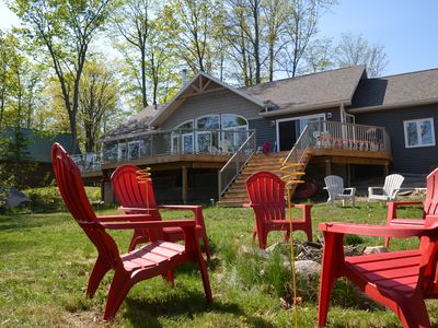 Photo for Fox Run: Waterfront Lakehouse with Impressive Views and Luxury Details
