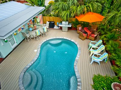 Photo for Angie's Place! 2br/2ba, heated pool and a view of the Gulf!